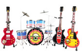 GUN N ROSES Miniature Guitars and Drum Mega Set
