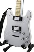 Miniature Guitar Ace Frehley KISS Chrome VELENO