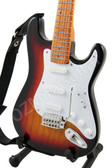 Miniature Guitar Jimi Hendrix Strat Sunburst