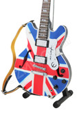 Miniature Guitar OASIS Noel Gallagher Union Jack