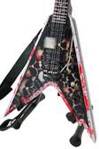 Miniature Guitar Dime USA Razorback V Skull