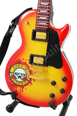 Miniature Guitar Gun N Roses Les Paul Sunburst