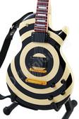Miniature Guitar Zakk Wylde Cream Black BULLSEYE