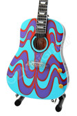 Miniature Guitar John Lennon THE BEATLES Psychedelic Acoustic