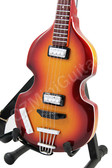 Miniature Guitar Paul McCartney THE BEATLES Hofner Bass 1966 without Pickguard