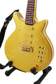 Miniature Guitar Brian May QUEEN Gold Signature