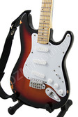 Miniature Guitar Eric Clapton Brownie Stratocaster