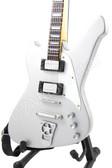 Miniature Guitar Paul Stanley KISS Washburn Silver