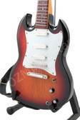 Miniature Guitar SG Sunburst