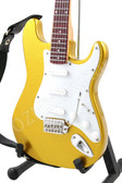Miniature Guitar Gold Stratocaster with White Pickguard