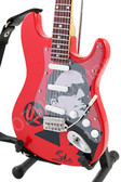 Miniature Guitar Art Series Bono U2 Red