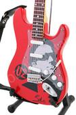 Miniature Guitar Art Series Bono U2 Red