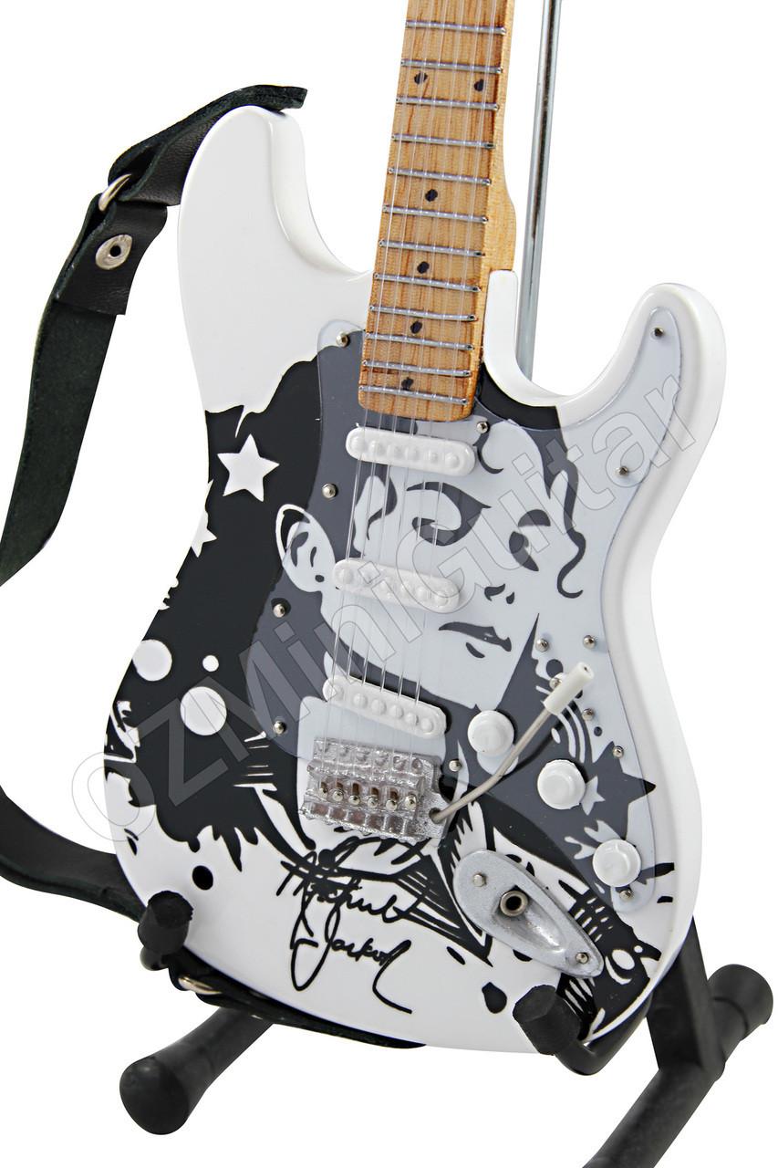 miniature guitar michael jackson white signature ozminiguitar. Black Bedroom Furniture Sets. Home Design Ideas