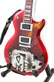 Miniature Guitar Red Skull LP