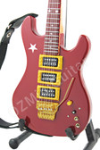 Miniature Guitar Richie Sambora Signature Vintage 1987 Red Jersey Star