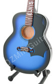 Miniature Acoustic Guitar Elvis Presley Blue