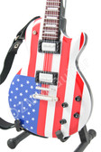 Miniature Guitar Joe Perry Aerosmith American Flag Les Paul