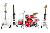 Rolling Stones Miniature Guitars and Drum Mega Set