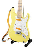 Miniature Guitar Stratocaster Yellow