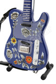 Miniature Guitar Prince Tele Floral Purple