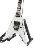 Miniature Guitar Wolf Hoffmann ACCEPT White Flying V