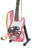 Miniature Bass Guitar Mark Hoppus Blink-182 Pink Octopus