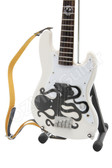 Miniature Bass Guitar Mark Hoppus Blink-182 White Octopus