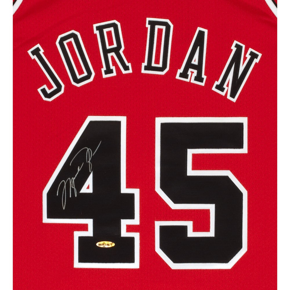 9f6150efd3bba0 MICHAEL JORDAN Signed 95 Authentic Bulls M N Jersey UDA. Larger   More  Photos