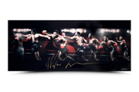 MIKE TYSON Signed Roundhouse 36 x 15 Photograph LE 50 UDA.
