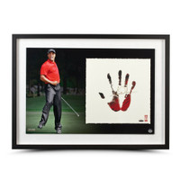 TIGER WOODS Signed TEGATA Red & Black Lithograph LE of 100 UDA.