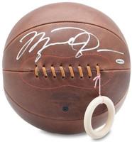 MICHAEL JORDAN Autographed Naismith Leather Head Basketball UDA