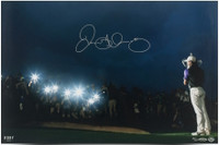 "RORY McILROY Autographed ""Spotlight"" 16 x 24 Photograph UDA LE 50"