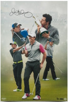 "RORY McILROY Autographed ""Destiny Fulfilled"" 16 x 24 Photograph UDA LE 25"