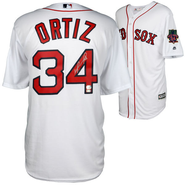 DAVID ORTIZ Autographed Boston Red Sox Retirement Jersey FANATICS ... 4cc3f539ca0