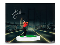 "TIGER WOODS AUTOGRAPHED ""THE BRIDGE AT NIGHT"" 16 X 20 Photo UDA LE 50"