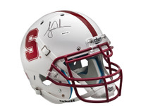 TIGER WOODS AUTOGRAPHED WHITE STANFORD AUTHENTIC HELMET UDA