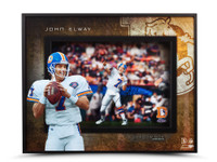 "JOHN ELWAY AUTOGRAPHED ""PROLIFIC PASSER"" SHADOW BOX UDA"