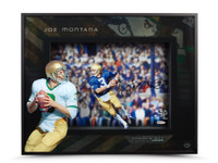 "JOE MONTANA AUTOGRAPHED ""ROLL OUT"" SHADOW BOX UDA"