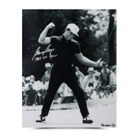 GARY PLAYER AUTOGRAPHED & INSCRIBED '65 FIST PUMP PHOTO UDA LE 25
