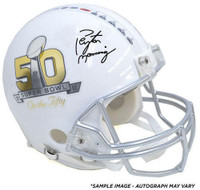 "PEYTON MANNING Autographed Super Bowl ""On The 50"" Proline Helmet FANATICS"