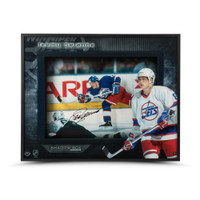 TEEMU SELANNE Autographed Young Guns Winnipeg Shadow Box UDA LE 25