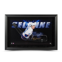 TEEMU SELANNE Autographed Acrylic Stick Blade with Shadow Watcher Picture Frame UDA LE 25