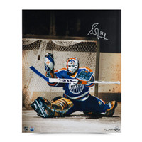 "GRANT FUHR Autographed ""Net Keeper"" 16 x 20 Photo UDA LE 50"
