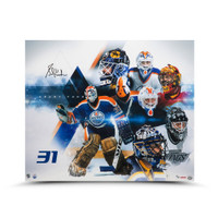 "GRANT FUHR Autographed ""Evolution"" 20 x 24 Photo UDA LE 50"