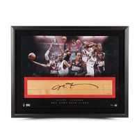 "ALLEN IVERSON Signed Framed The Question ""Game Used"" Floor Collage UDA LE 30"
