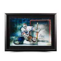"GRANT FUHR AUTOGRAPHED & INSCRIBED ""SAVE"" BREAKING THROUGH UDA"