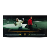 "TIGER WOODS & JACK NICKLAUS ""MASTERFUL"" 36 X 18 UDA"