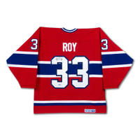 PATRICK ROY Autographed Authentic Heroes of Hockey Red Montreal Canadiens Jersey UDA