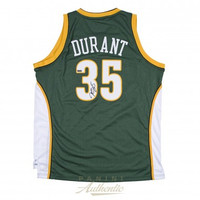 KEVIN DURANT Autographed Green Supersonics Swingman Jersey PANINI