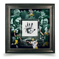 BRETT FAVRE Autographed Green Bay Packers Tegata 36 x 36 UDA